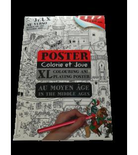 Poster à colorier du moyen âge