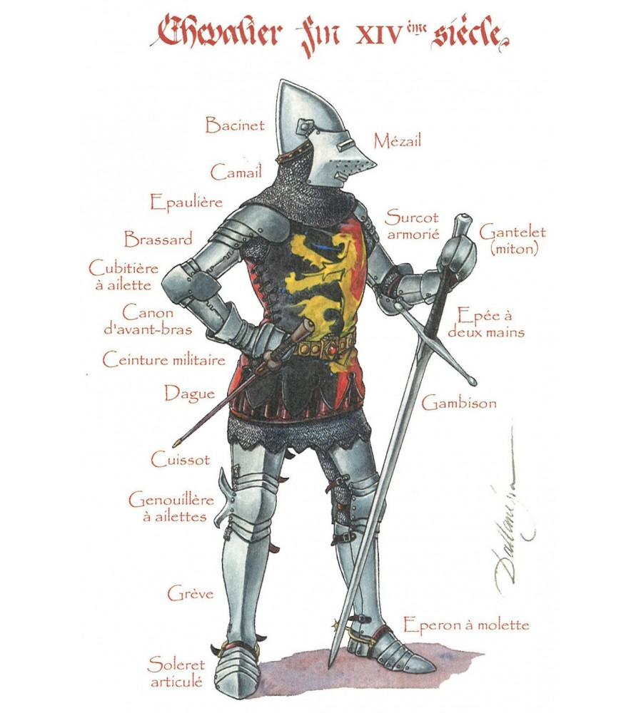 Carte postale Chevalier du XIVe siècle