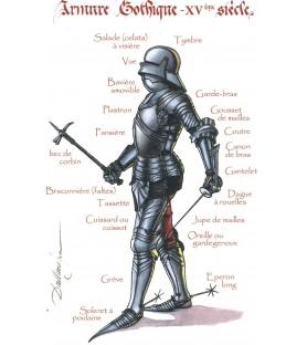 Carte postale Chevalier du XVe siècle