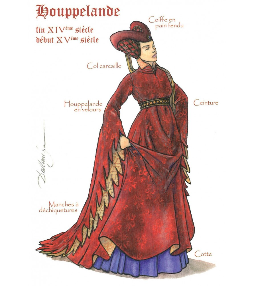 Carte postale Femme à la Houppelande