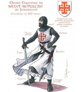 Carte postale Chevalier du Saint-Sépulcre, fin XIIe siècle