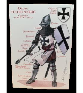 Carte postale Ordre Teutonique, Chevalier du XIVe siècle