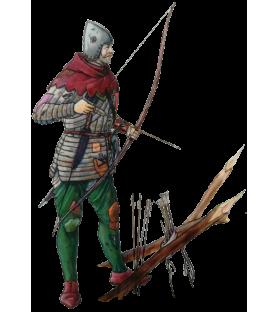 Carte postale archer anglais, 1415