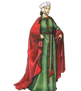 Carte postale Femme à la cotte XIIIème siècle