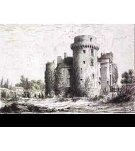 Carte postale Croquis Château Saint Mesmin