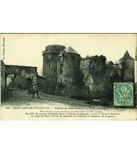 Carte postale fin XIXe siècle Château de Saint Mesmin