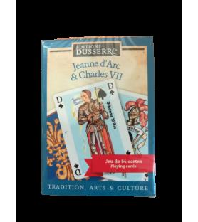 """Jeu de cartes """"Jeanne d'Arc et Charles VII"""""""