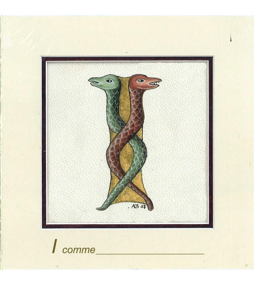 Carte postale Art Roman lettre I