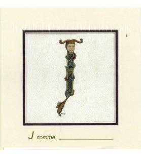 Carte postale Art Roman lettre J