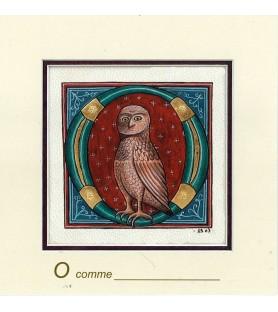 Carte postale Art Roman lettre O