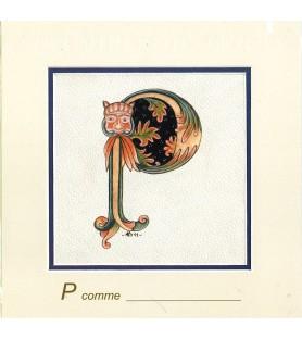Carte postale Art Roman lettre P