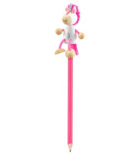Crayon de papier Licorne rose