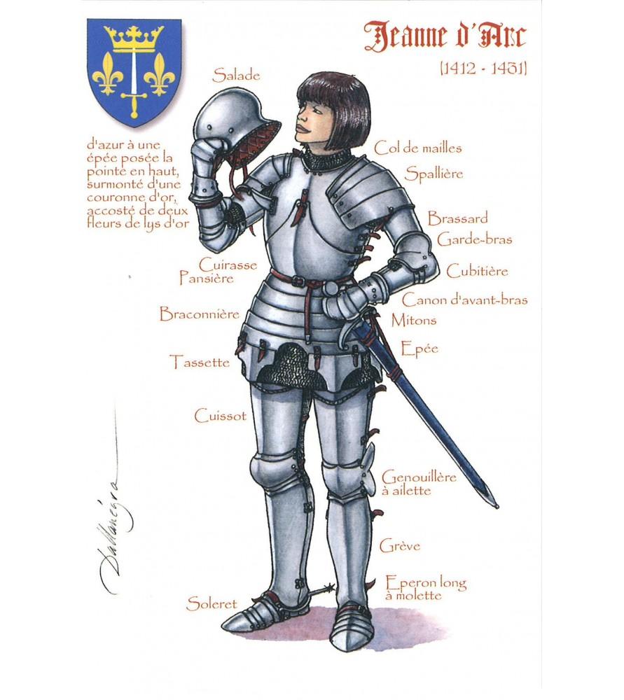 Carte postale Jeanne d'Arc