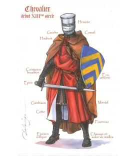 Carte postale Chevalier du XIIIème siècle