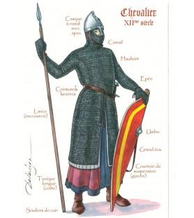 Carte postale Chevalier du XIIe siècle
