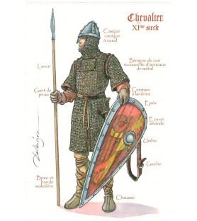 Carte postale Chevalier du XIème siècle