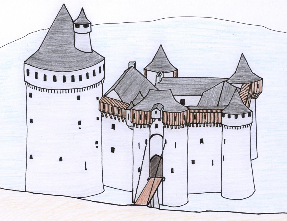 Possible reconstruction of the castle in the 15th century