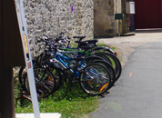 Photo of the bicycle parking lot