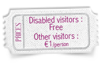 Price : free for disabled visitor, 1 € others